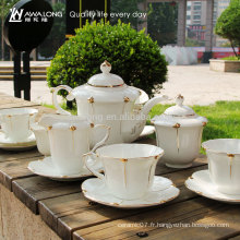 Boîte cadeau de luxe Design Packaging 15pcs Ceramic Bone China Coffee Tea Sets
