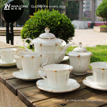 15pcs café cerâmico conjunto de porcelana fina xícara de café e panela para o jantar