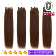 18inch 100g Straight Brown Brazilian Human Virgin Easy Pull Knot Thread Hair Extension