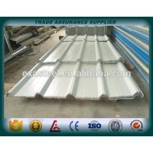 Tôle de toit en acier inoxydable à calibre 22 revêtue de couleur