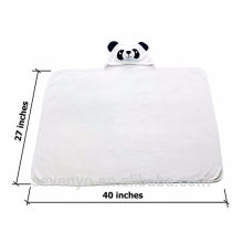 Baby saliva with ears Super soft panda pattern high quality bath hooded towel--Panda