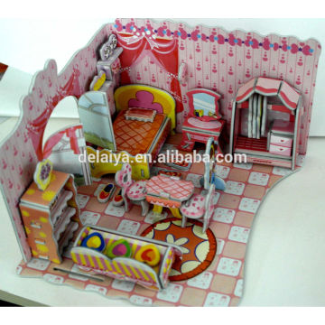 DIY educational toy 3D puzzle girls bedroom