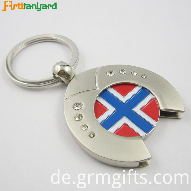 Trolley Coin Keychain Nickel Plating
