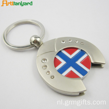 Aangepaste Trolley Coin Keychain Nickel Plating