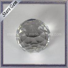 Boule de verre de cadeau de Noël blanc brillant