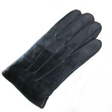 Guante de cuero hecho a mano del mens del nuevo diseño de la manera