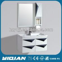Hangzhou Banheiro Móveis modernos Design simples Mural de maquiagem Maçã de banheiro de PVC Vanity