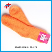 Warm Knitted Microfiber Fabric Socks For Kids Footwear