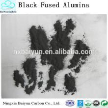 Meilleure vente de poudre d'oxyde d'aluminium / prix d'usine corindon noir