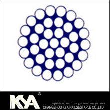 (1X37) Corde à fil en acier inoxydable pour débrochage, levage, dessin
