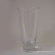 Clear V Shape Glass Vase