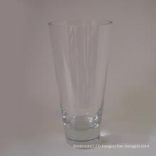 Clear V Shape Glass Vase