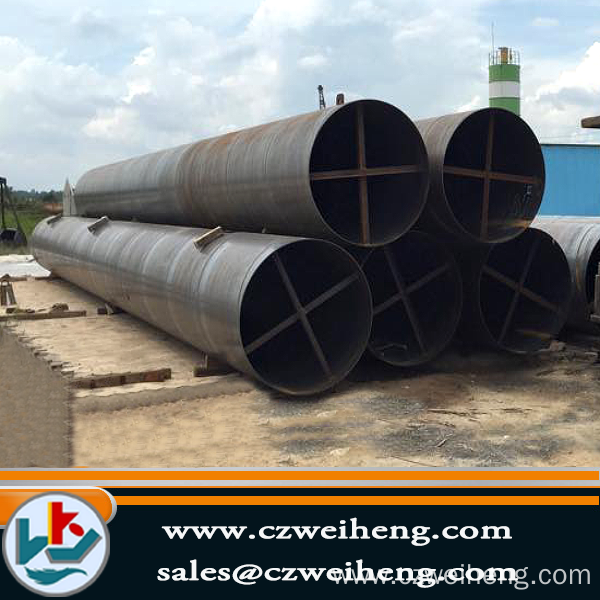 3PE Coated Ssaw Steel Pipe/ Spiral Welded