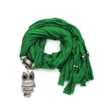 Wholesale Fashion Scarf With Owl Jewelry