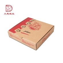 Preço de caixa de pizza de papel ondulado descartável personalizado direto da fábrica
