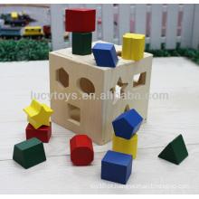 Caixa de classificador de forma de madeira crianças brinquedos educativos