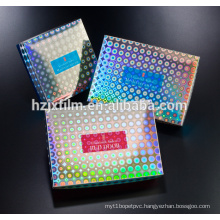holographic film cosmetics packaging for paper box