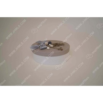 Butterfly-knot Decorated Light Gray Jewelry Box