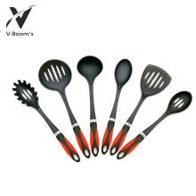 Punho de nylon dos PP das ferramentas da cozinha do utensílio 6PC