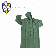 PVC Rubber Rain coat, high quality with reflective tapes, Fluorescent yellow and orange can be customized CE Standard