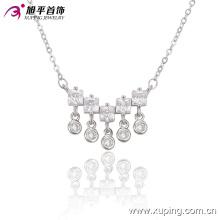 Moda Elegante CZ Cristal Ródio Imitação De Jóias Colar De Pingente De -42920