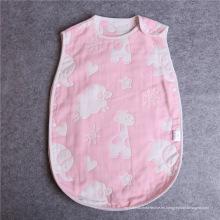 Saco de dormir colorido del bebé de la seta de la muselina 100% del algodón