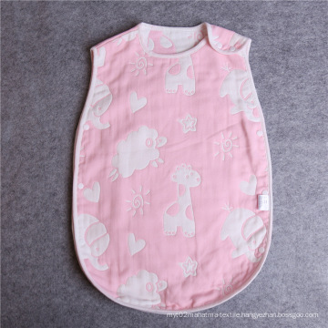 100% Cotton Muslin Mushroom Colorful Baby Sleeping Bag