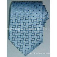 Cravate en jacquard tissée en soie à la mode