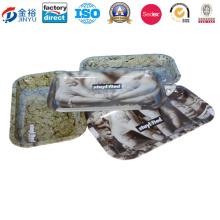 Plateau en étain en forme de rectangle pour paquet de tabac Jy-Wd-201601604