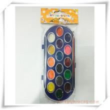Pintura promocional sólido-seco colorido aquarela conjunto de presente da promoção (oi33013)