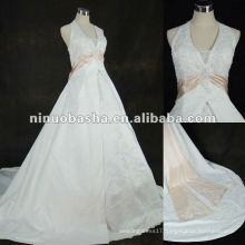 Appliqued Satin Bridal Gown 2012