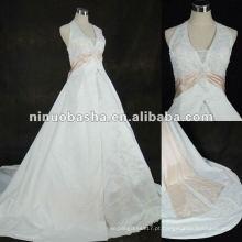 Vestido de noiva de cetim Appliqued 2012