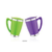 plastique et acier inoxydable Double paroi Mug Bureau 450ml