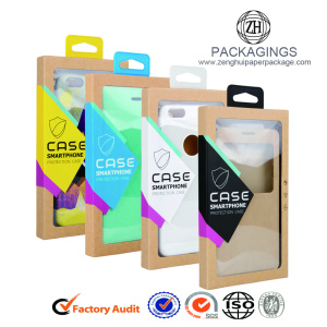 New phone case box with a hook wholesale