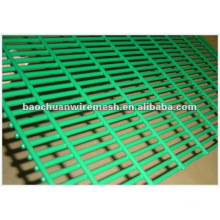 Verde, negro, amarillo, etc pvc recubierto de malla de alambre de alambre soldado / PVC malla de alambre soldada