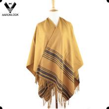 Hot Selling Stripe Pattern Big Woven Shawl