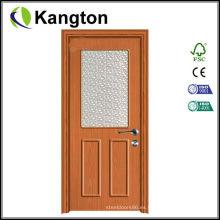 Puerta de madera del PVC del diseño interior económico (puerta de madera del PVC)