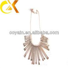 Collier en acier inoxydable de style mode 2013 avec placage en or rose