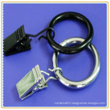 black curtain rod ring clips