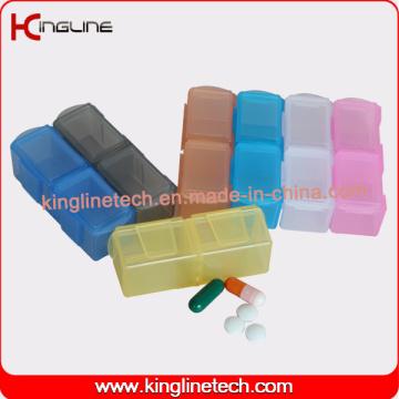 Caixa de pílula de plástico de design mais recente de 14 casos (KL-9142)