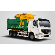 6x4 RHD Sinotruk HOWO compressor garbage truck / compact garbage truck / howo dustbin truck / compressed truck
