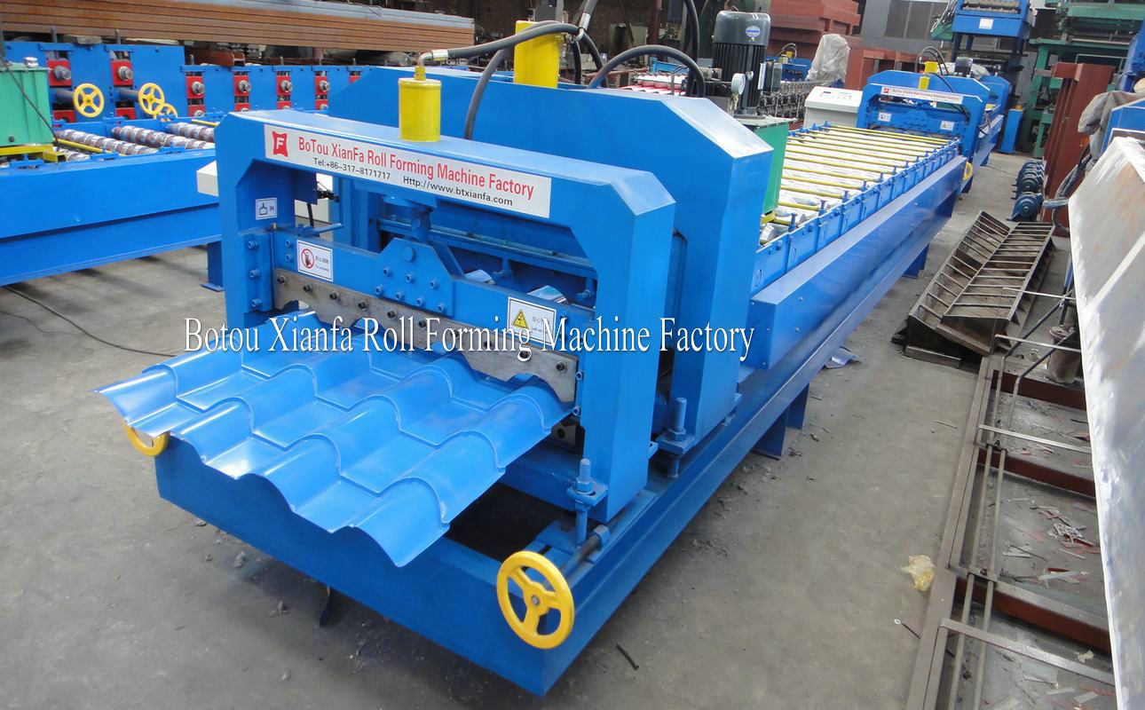 bamboo glazed roof tile roll forming machine