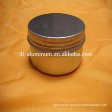 Pot rond en aluminium de la meilleure qualité