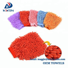 Import auto chenille microfiber car wash mitt for cleaning car glass window