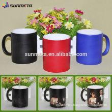 Yiwu sublimation products factory custom color changing magic mug