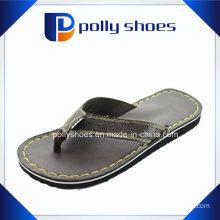 China Leahter Comfort Sandal Men Flip Flop Manufacturing