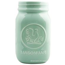 Ceramic Mason Jar
