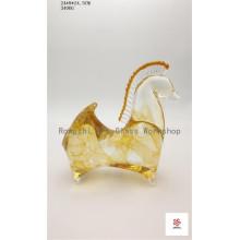 Standing Short Horse Glass Sculpture