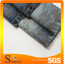 Cotton Polyester Spandex Denim Fabric (Printed) (SRS-120267-D8)