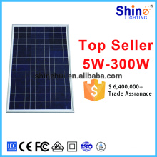 80W High Efficiency Grade A solar cells solar module with CE TUV certificate for India